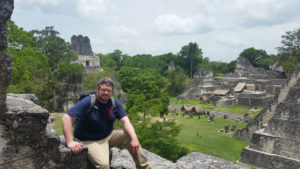 Brendan at the Mayan ruins in Tikal, Guatemala.